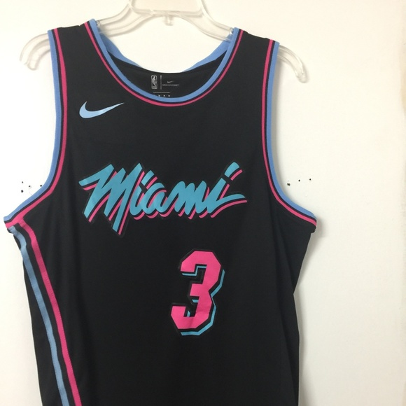 the latest 3fb9a b5601 Miami Heat City Swingman Jersey Dwyane Wade